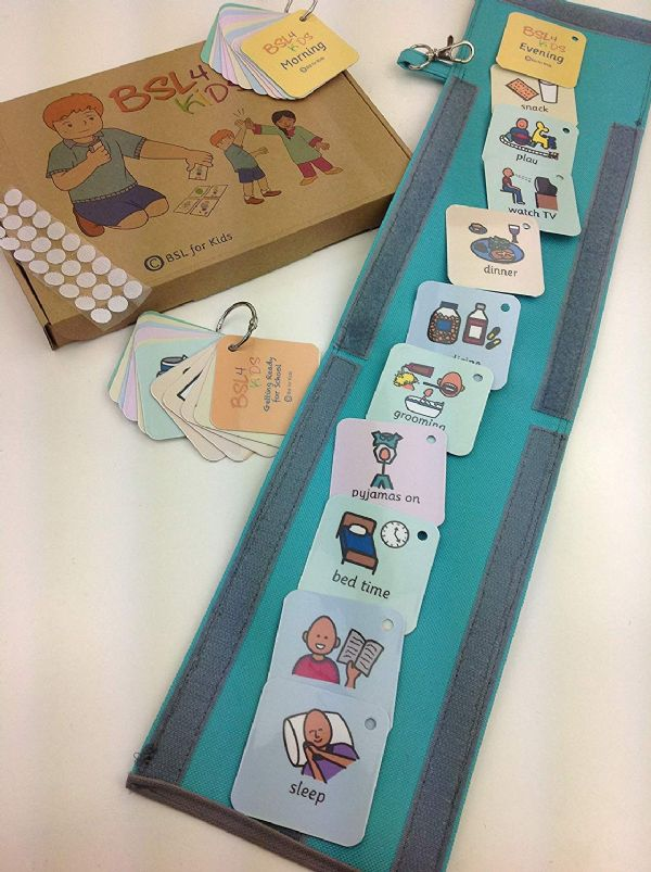 Morning & Evening Routine Choice Board Schedule Strip Bag